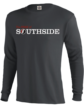 The PRIDE of Southside Charcoal Long Sleeve T-Shirt D61A