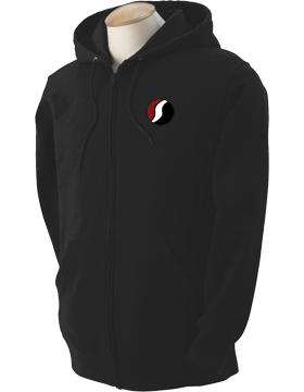 Southside High School Black Full-Zip Hooded Sweatshirt G186