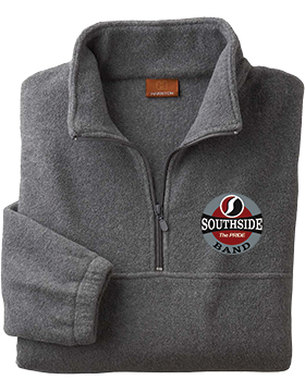 Southside Band Charcoal Quarter-Zip Fleece Pullover M980