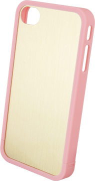 Custom iPhone 4/4S Bumper Cover with DynaSub Insert Light Pink small