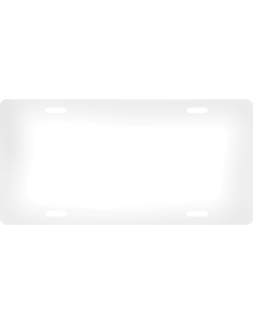 Custom License Plate, White on Silver 5.875inx11.875inx.045in