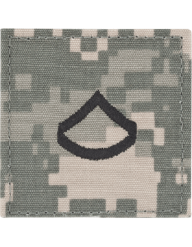 ACU Rank with Fastener E-3 Private First Class