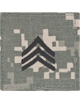 ACU Rank with Fastener E-5 Sergeant