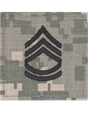 ACU Rank (SV-107) Sergeant First Class E-7 with Fastener
