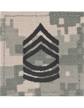 ACU Rank with Fastener E-8 Master Sergeant