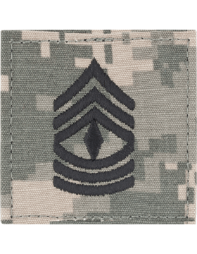 ACU Rank with Fastener E-8 First Sergeant