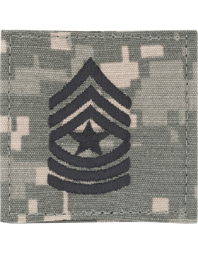 ACU Rank with Fastener E-9 Sergeant Major