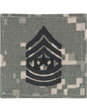 ACU Rank (SV-111) Command Sergeant Major E-9 with Fastener