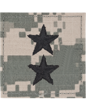 ACU Rank with Fastener Major General Point to Center
