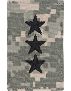 ACU Rank with Fastener Lieutenant General Point to Center