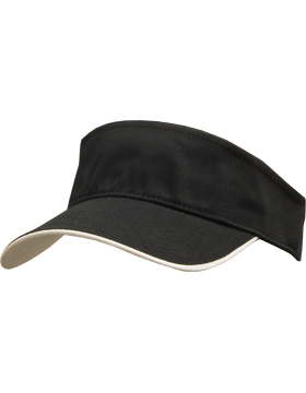 Stock Twill Visor with White Trim