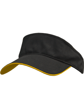Stock Twill Visor with Gold Trim