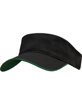 Stock Twill Visor with Green Trim