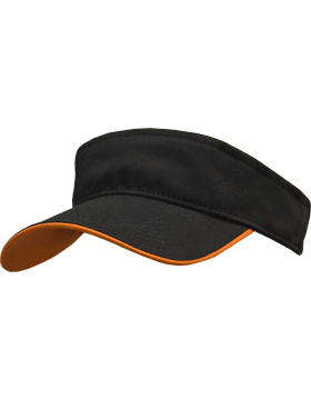 Stock Twill Visor with Orange Trim