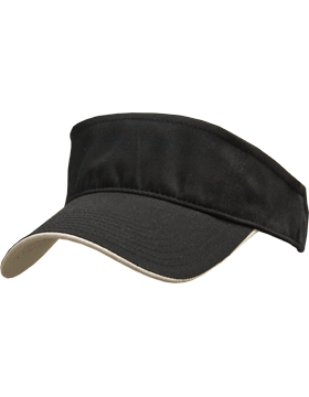Stock Twill Visor with Gray Trim