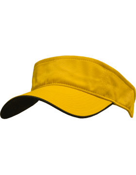 Stock Twill Visor with Black Trim