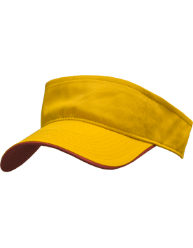Stock Twill Visor with Red Trim
