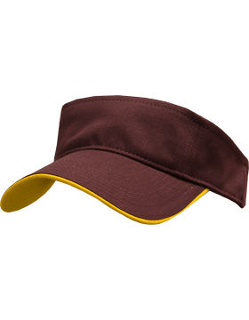 Stock Twill Visor with Yellow Trim