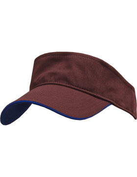 Stock Twill Visor with Royal Trim