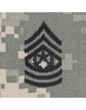 Cmd Sgt Major (E-9) ACU Sew-on Cap Rank