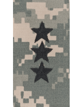 ACU Sew-on Shirt Rank Lieutenant General Point to Center