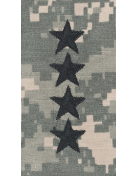 ACU Sew On Cap Rank General Point to Center
