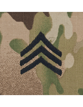SVR-205, Sergeant (E-5) SGT, Scorpion Sew-On 2x2 Rank