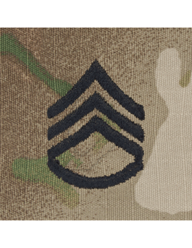 SVR-206, Staff Sergeant (E-6) SSG, Scorpion Sew-On 2x2 Rank