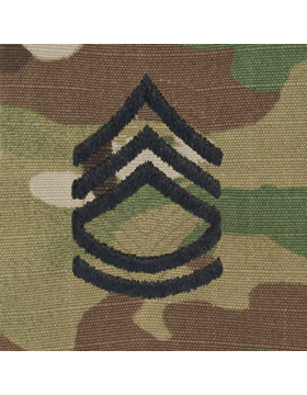 SVR-207, Sgt First Class (E-7) SFC, Scorpion Sew-On 2x2 Rank