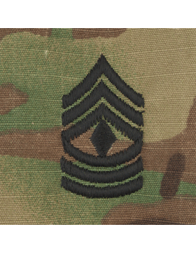 SVR-209, First Sergeant (E-8) 1SG, Scorpion Sew-On 2x2 Rank
