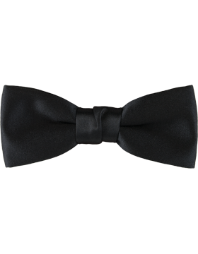 Black 2in Clip-on Bow Tie