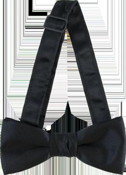 Black 2in Adjustable Bow Tie
