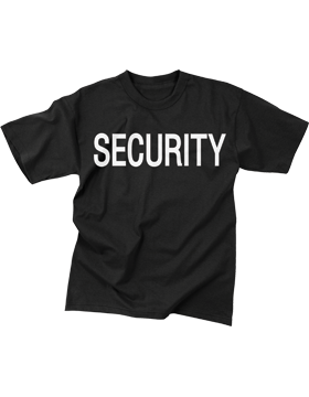 Security T-Shirt Two Sided Size 4XL 6684