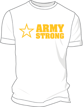 Army Screen Printed T-Shirt 4005 (Army Strong)