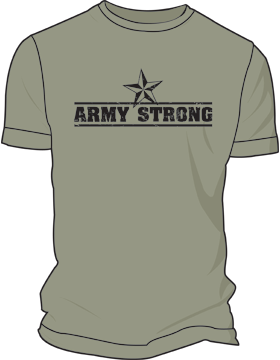 Army Screen Printed T-Shirt 4006 (Army Strong)