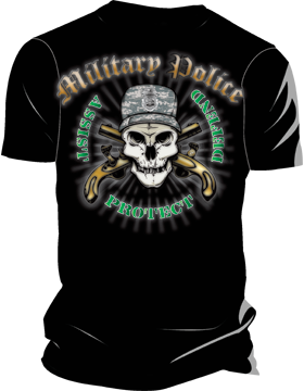 Military Police Assist Protect Defend T-Shirt 4028