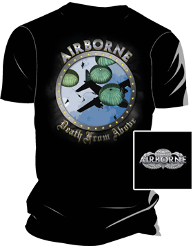Airborne Death From Above T-Shirt 4029