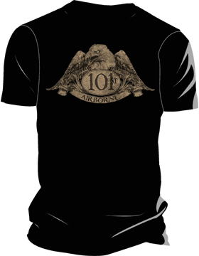 101st Airborne with Eagle T-Shirt 4031