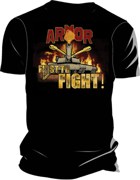 Armor First to Fight! T-Shirt 4033