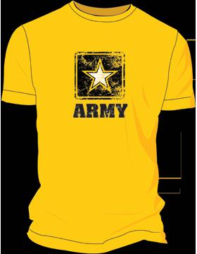 Army Star Distressed T-Shirt 4037