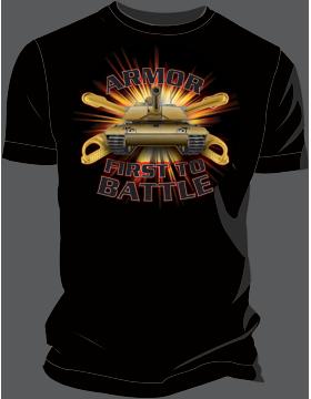 Armor First to Battle T-Shirt 4040