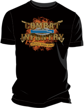 Combat Infantry Proven Under Fire T-Shirt 4042