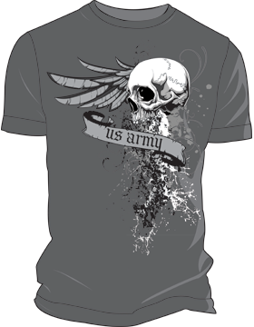 US Army Grunge T-Shirt 4043