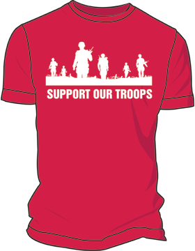 Support Our Troops Screen Printed T-Shirt 4050