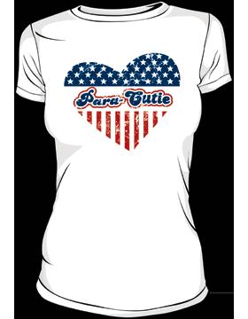 T-MIL-0003A, Para-Cutie, Heart Heavyweight T-Shirt
