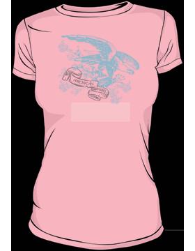 T-MIL-0005B, American Girl, Ringspun T-Shirt Charity Pink