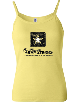 T-MIL-0022C, Our Love is Army Strong (Grandma) Yellow, Tank