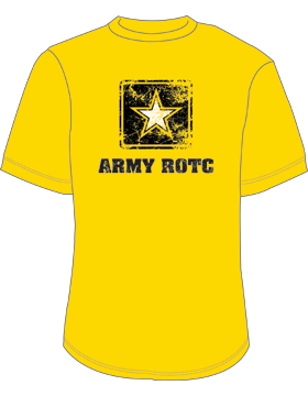 Army ROTC Screen Printed T-Shirt 4023