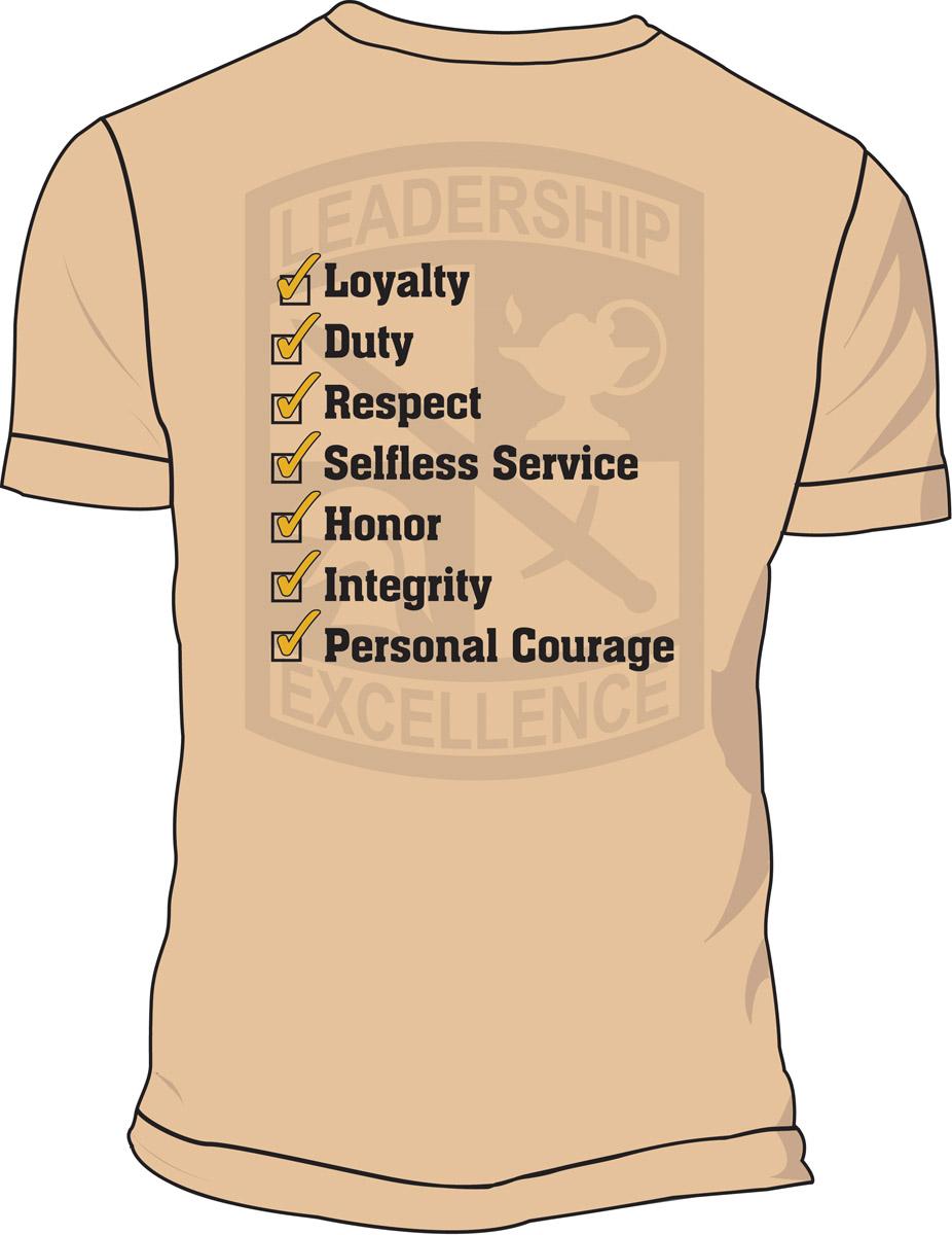 ROTC Leadership T-Shirt 4024 small