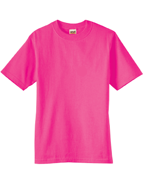 Anvil T-Shirt Ultra 100% Cotton Youth 905B Hot Pink